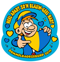 DBD Motto 2019 Heel appart zo'n Blauw-Geel hart